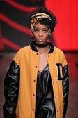Model at DKNY Women's fashion show — Stock Photo