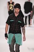 Model walks runway wearing M The Movement — Stock Photo