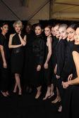 Models poses backstage at FLT Moda Art Hearts — Stock Photo