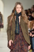 Model at the Ralph Lauren fashion show — Stock Photo