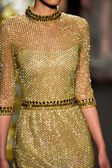 Model walks runway at Naeem Khan collection — Stock Photo