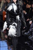 Model walks runway at Donna Karan New York — Stock Photo