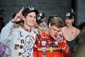 Models walks runway at Libertine fashion show — Stock Photo