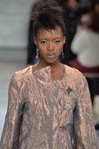 Model at Katya Leonovich fashion show — Stock Photo