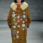 Model at Libertine fashion show — Stock Photo