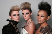 Models getting ready backstage at Leka show — Stock Photo