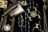 Assorted jewellery backstage at Leka show — Stockfoto