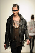 Model walks at Christian Benner show — Stock Photo