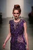 Model walks runway at Gail Be show — Stock Photo