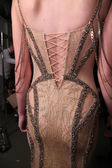 Designer Dany Tabet works backstage — Stockfoto