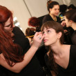 Stock Photo: Model getting ready backstage