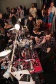 Backstage at Nolcha Fashion Week — Stock Photo