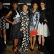 Stock Photo: Models pose at Adolfo Sanchez presentation