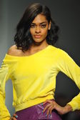 Model at R. Michelle fashion show — Stockfoto