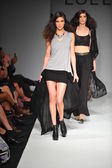 Models at Lolly Clothing fashion show — Stock Photo