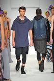 Model walks runway at Consort 62 show — Stock Photo