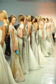 Models pose during RIVINI show — Stock Photo