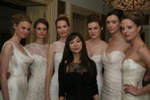 Designer Jenny Lee and models — Стоковое фото