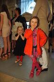 Kid guest before Ralph Lauren show — Stock Photo