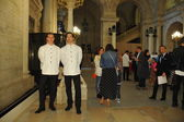 Waiters serve before Ralph Lauren show — Foto de Stock