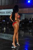 Model during International Bikini Model Search — Stock Photo