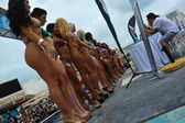 Models lineup during IBMS — Stock Photo