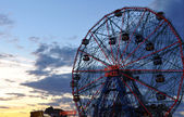 Wonder Wheel at Coney Island — Stock Photo