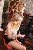 Model at Claire Pettibone show — Stock Photo