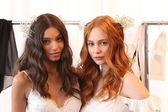 Models at Claire Pettibone show — 图库照片