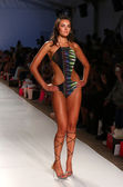 Model walks at Aguaclara Swimwear collection — Stock Photo