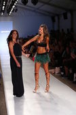 Designer Liliana Villalobos and Model  at Aguaclara Swimwear collection — 图库照片