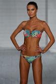 Model walks at San Lorenzo Swimwear collection during MBFW Miami Swim — Stock Photo
