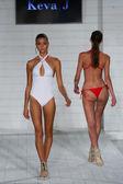 Model walks at Keva J. collection at SoHo Beach House — Stock Photo