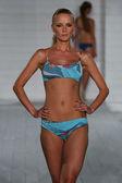 Model walks at San Lorenzo Swimwear collection — Stock Photo