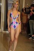 A model walks  for Karo Swimwear collection — Stock Photo