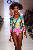 Model walks at Cia Maritima collection — Stock Photo
