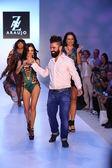 TV personality Adriana De Moura, designer A.Z Araujo and model — Stock Photo
