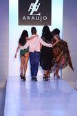 AZ Araujo and celebrity models — Stock Photo
