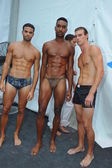 Models pose backstage at the A.Z Araujo show — Photo