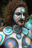 Nude models, artists take to New York City streets during first official Body Painting Event — Foto Stock