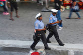 Police Officers at New York City streets — Foto Stock