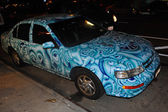 Andy Golub car during Body Painting Event — Foto Stock
