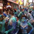 Models, artists during first official Body Painting Event — Stock Photo #50363381