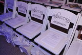Front row chairs at Liliana Montoya Swim collection — Stock Photo