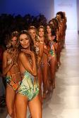 Models walk runway finale at Liliana Montoya Swim collection — 图库照片
