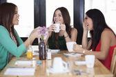 Beautiful women drinking coffee — Foto de Stock