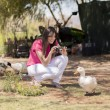Goose photographer - Stockfoto