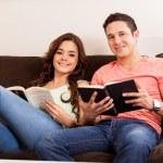 Couple enjoying a good read — Stock Photo #29234995