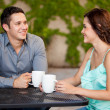Couple drinking coffee — Stock Photo