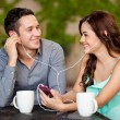 Listening to music together — Stock Photo #29235183